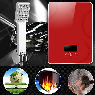Instant Electric Water Heater Bathroom Bath Shower Tankless Hot Water System Red