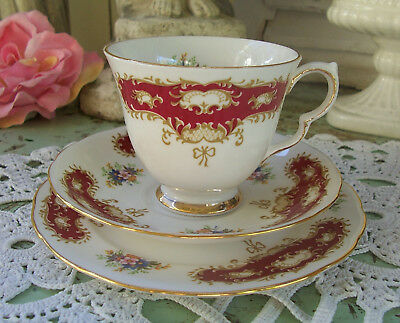Vintage Queen Anne Cup Saucer Plate Trio Pattern No 8364 Shabby Belle Brocante