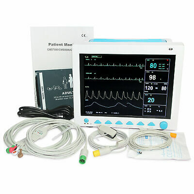 FDA Patient Monitor 6 Parameters Vital Signs Monitor Printer ETCO2 Stand Bag New