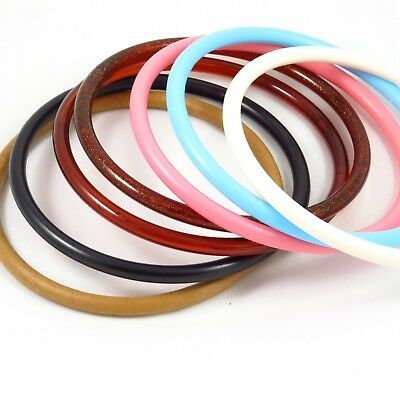 5in 13cm Small Round Plastic Bag Handle - var colours - Bag Making