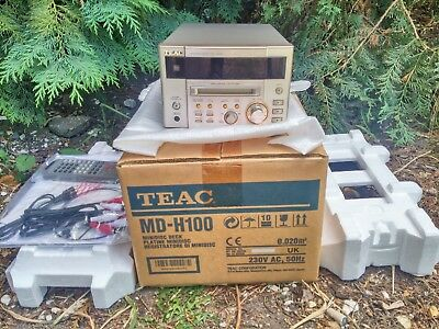 BRAND NEW BOXED TEAC MD-H100 Series MiniDisc Recorder Player + Remote & Cables