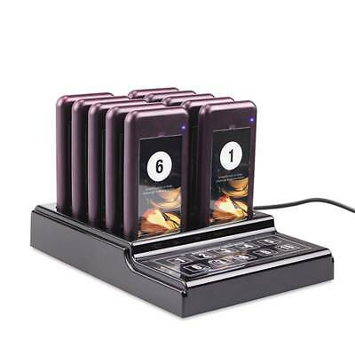 Restaurant Wireless Waiter Paging Queuing Calling System Transmitter & 10 Pagers