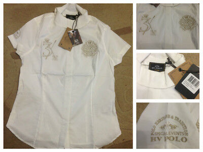 New HV Polo 'Lacey' short sleeve shirt with ratcatcher collar. Sz large