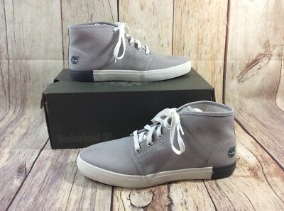 TIMBERLAND SIZE 10 NEWPORT BAY 2 EYE Grey Sleet Canvas New