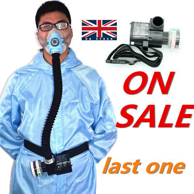 Half Face Gas Mask Respirator System Electric Constant Flow Supplied Air Fed UK