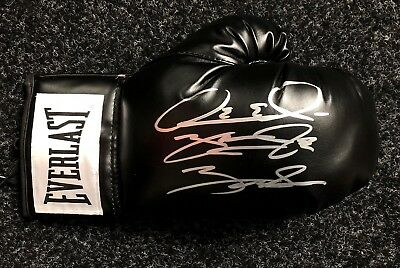 Deontay Wilder Signed Boxing Glove Bronze Bomber AFTAL PROOF RARE COA