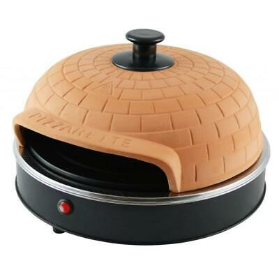 Pizza Backofen enregistrer avec hotte terre cuite mini-pizza Rond Emerio