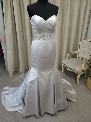 Alfred Angelo Wedding Dress Style 2434, Silver, Size 12