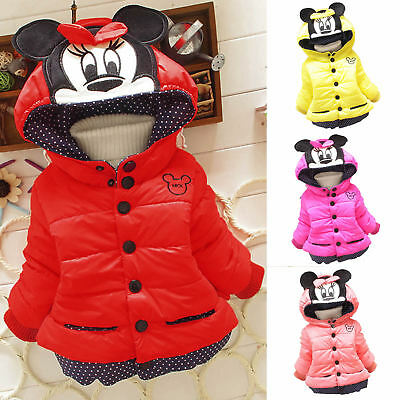 Kids Baby Girls Boys Mickey Minnie Hoodie Sweatshirt Coat Winter Tops Outerwear