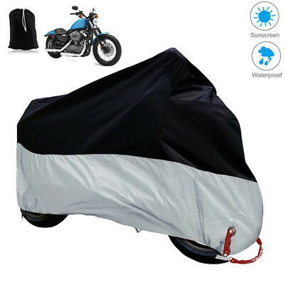 Waterproof motorcycle protective cover weatherproof UV protection L96*W41*H49in