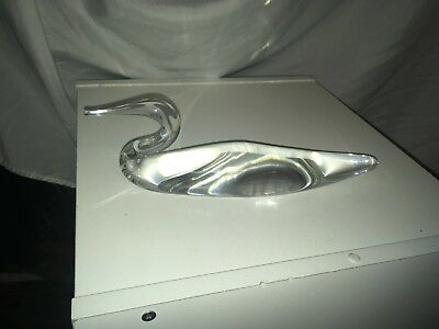 """Steuben Glass Loon Sculpture Signed """"steuben"""" On The Bottom No Damages"""