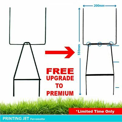 Lawn Spike Sign Frame  - Wire Sign Stake for Real Estate Corflute Signs