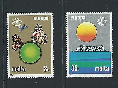 1986 MALTA Europa Set MNH (Scott 677-678)