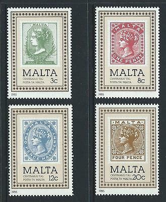 1985 MALTA Malta Post Office Centenary Set MNH (Scott 653-656)