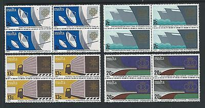 1983 MALTA World Communications Year Set in Blocks of 4 MNH (Scott 629-632)