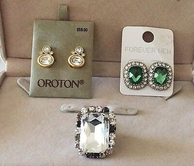 Fashion Jewellery Bulk Lot Mimico Oroton And Forever New Gold Plated Incl