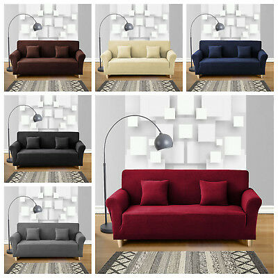1/2/3/ Seater Sofa Couch Chair Slipcover Stretch Covers Elastic Fit Protectors