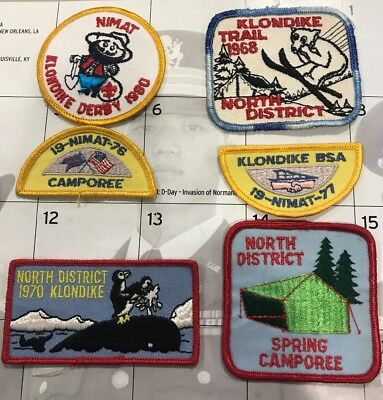 6 Vintage Boy Scouts Of America North District Patches