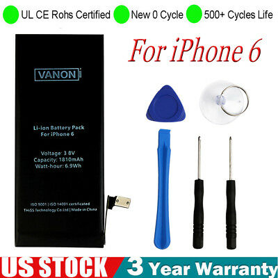 NEW For Apple Internal Replacement Battery for iPhone 6 1810mAh US Free Shipping