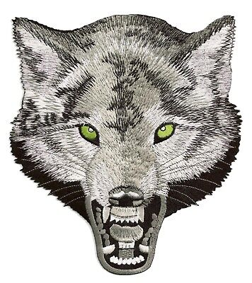 Backpatch patche dorsal écusson dos grande taille Loup biker patch grand