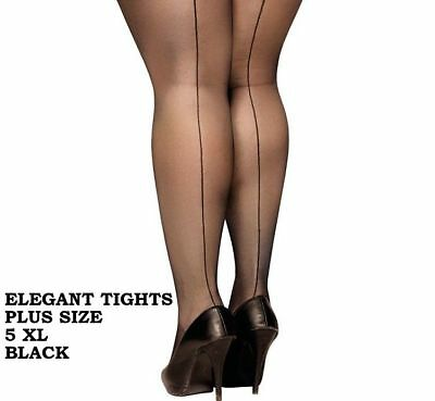 Seamed Tights Pantyhose or Stockings 5XL 6XL 7XL seamed PLUS SIZE Back Seam