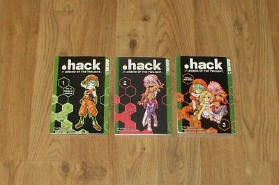3 HACK//LEGEND OF THE TWILIGHT Books 1-3 Tatsuya Hamazaki Manga Lot