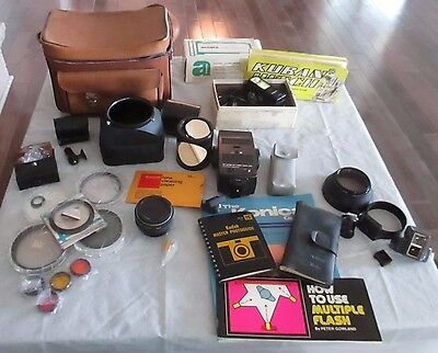 Large Lot of Vintage Camera Accessories Hoya, Vivitar, Spiratone and More!!!