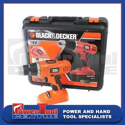 Black and Decker EPC188 Cordless Body Only Driver Drill 18 Volts with Carry case