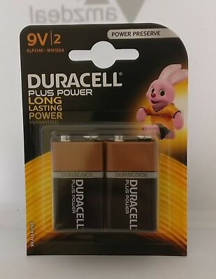 Duracell - Plus Power - 9V Battery twin pack x1