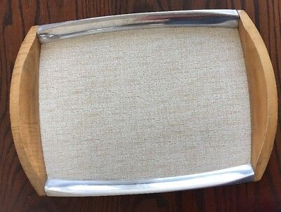 VINTAGE PICQUOT/PIQUOT WARE SERVING TRAY with Laminate base - V.G.C.