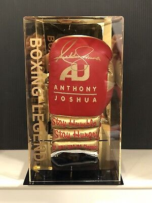 Anthony Joshua Signed Stay Hungry Boxing Glove AJ BXNG Display Case AFTAL COA