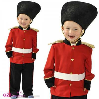 Boys Guardsman Costume Royal Queens Guard Beefeater Soldier Military Fancy Dress
