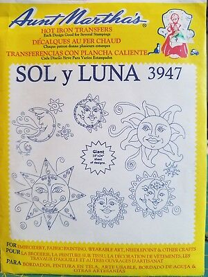 Iron On Embroidery Patterns By Aunt Marthas Hot Iron On Transfers