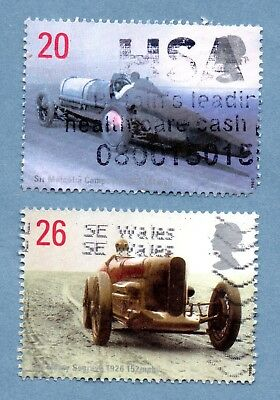 GB/UK stamps 1998 British Land Speed Record Holders SG2059/60 (2 stamps)