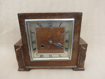 Vintage Haller Art Deco 8 Day Striking Mantel Clock For Tlc