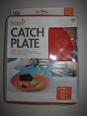 Boon Catch Plate With Spill Catcher Blue/Orange