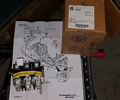 New In Box Allen Bradley 592-COW16 3-Pole A-Series Manual Reset Overload Relay