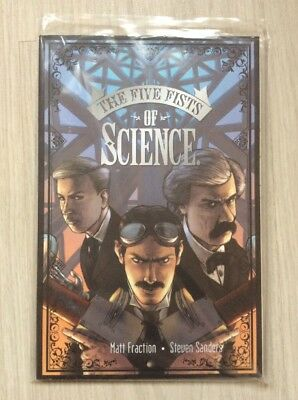 The Five Fists of Science - Graphic Novel   US IMAGE Comic TESLA  Matt Fraction
