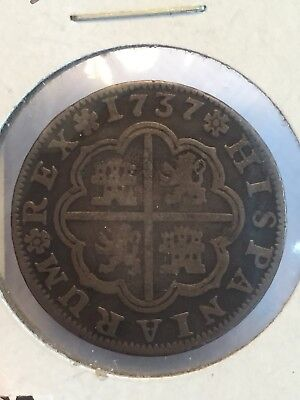 1737  Spain 2 Reales Silver Coin