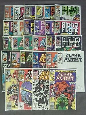 Lot of 28 Alpha Flight Marvel Comic Books *1983 *2-49 *view for details and pics