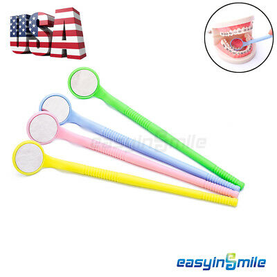 4 pcs Autoclavable Intro Oral Mirror Dental Mouth Reflector Mirror EASYINSMILE