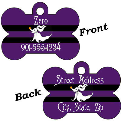 Disney Zero Purple Double Sided Pet Id Dog Tag Personalized for Your Pet