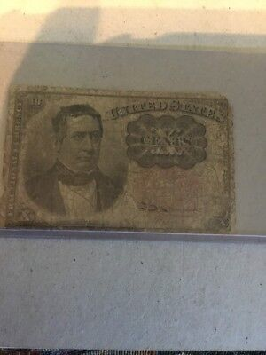 19th Century 10 Cent Fractional Currency U.S. Worn Note