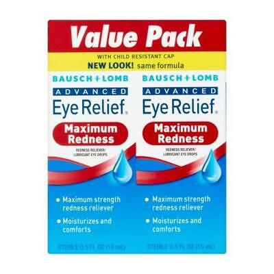 Bausch Lomb Advanced Eye Relief Maximum Redness Reliver 2 Ct. 0.5oz Each