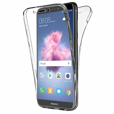 CUSTODIA COVER 360° FRONTE RETRO FULL BODY TRASPARENTE per HUAWEI P SMART