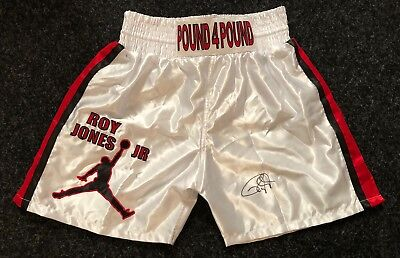 Roy Jones Jnr Hand Signed Replica Boxing Shorts World Champion RARE COA