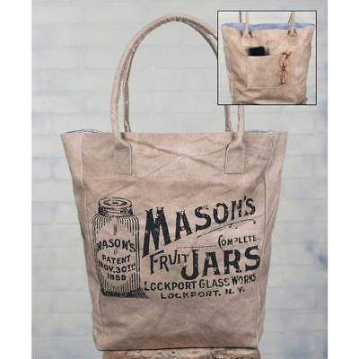 Market Bag Featuring Old Fashioned Mason Jar Design - Close Out