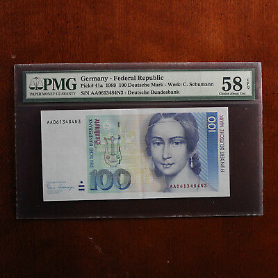 Germany, Federal Republic 1989 P-41a PMG Choice About Unc 58 EPQ 100 Mark *AA*