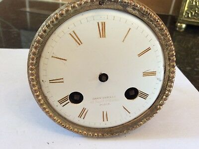 French Clock Movement, Open Dial, Japey Fils Movement.