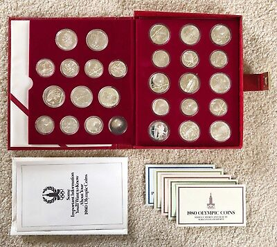 1980 Russian Olympics 28 Coin .900 Silver Proof Set. Over 20 oz of pure silver!